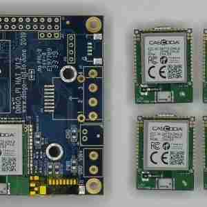 Go-IoT Cascoda Pi-HAT + 4 x Chili2Ds