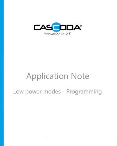 cascoda low power mode