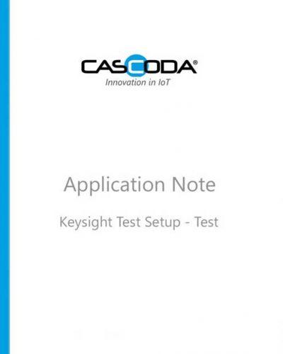 cascoda keysight test